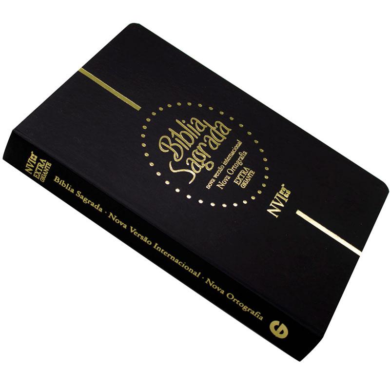 Bíblia Sagrada Nova Ortografia   NVI   Capa Semiflexível   Letra Extragigante   Preta