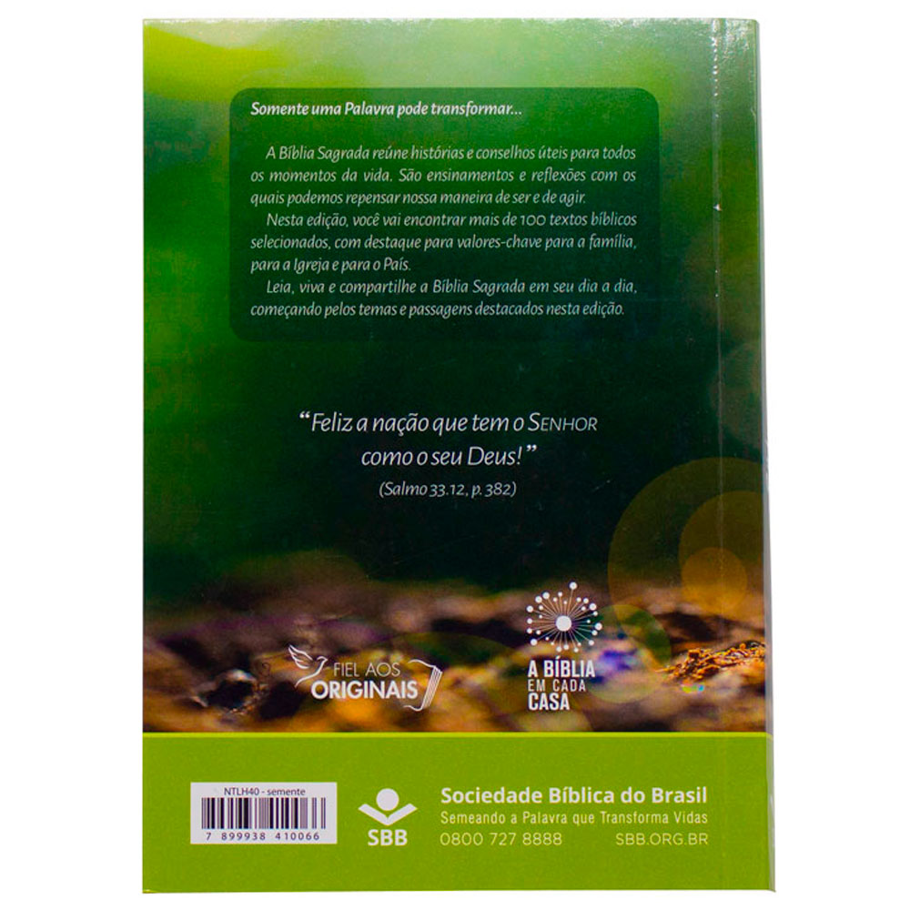Bíblia Sagrada   NTLH   Capa Brochura   Verde