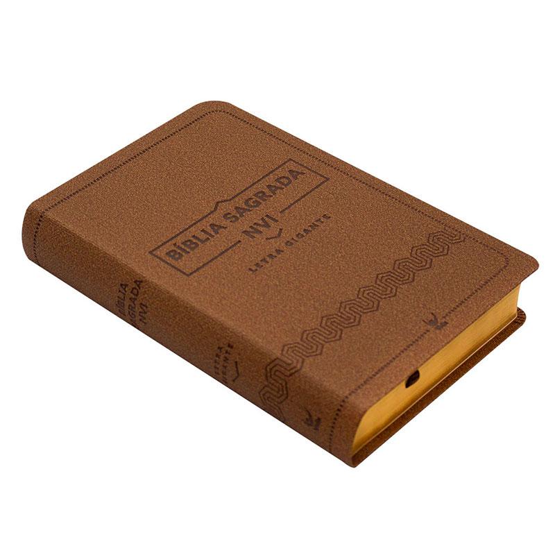Bíblia Sagrada   NVI   Capa Luxo  Marrom