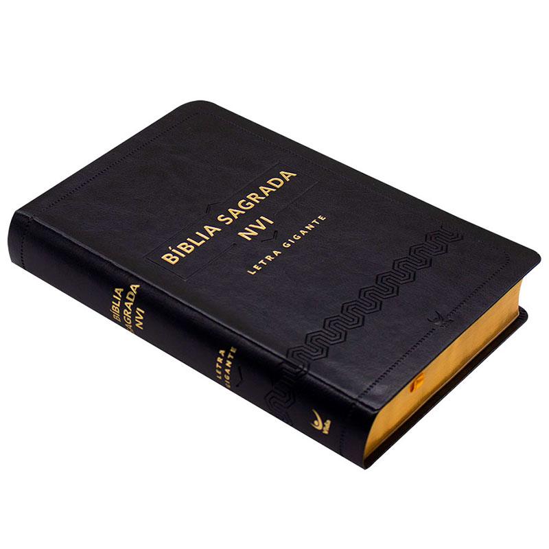 Bíblia Sagrada | NVI | Capa Luxo | Preta
