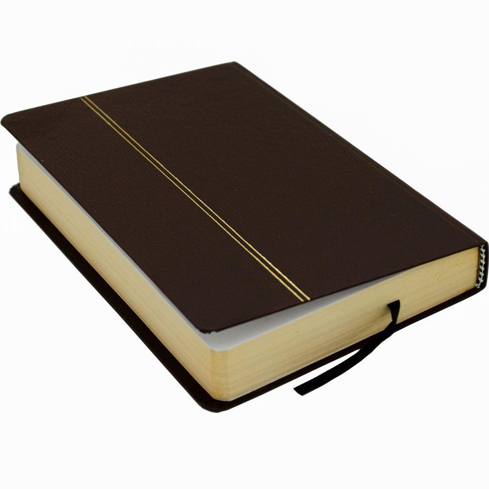 Bíblia Sagrada   NVI   Capa Semiluxo   Marrom