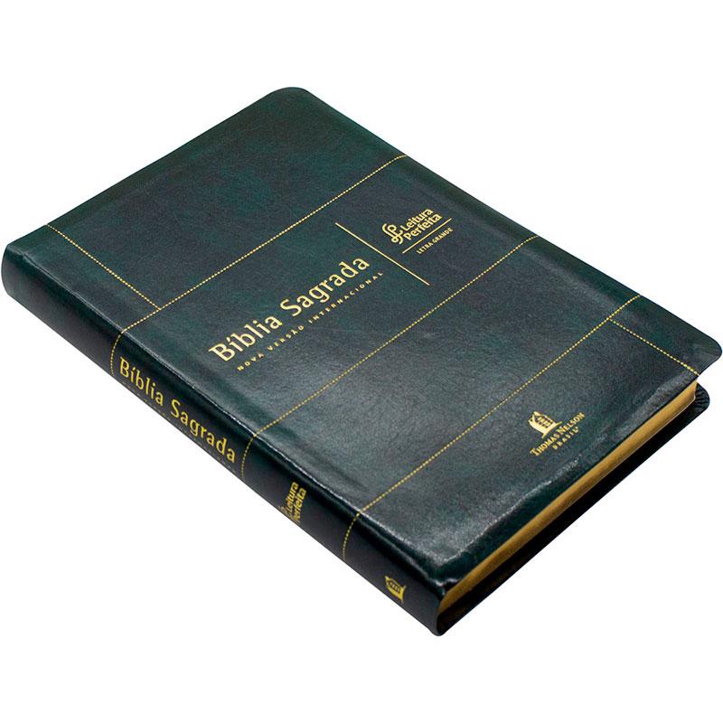 Bíblia Sagrada | NVI | Leitura Perfeita | Letra Grande | Capa Pu Verde