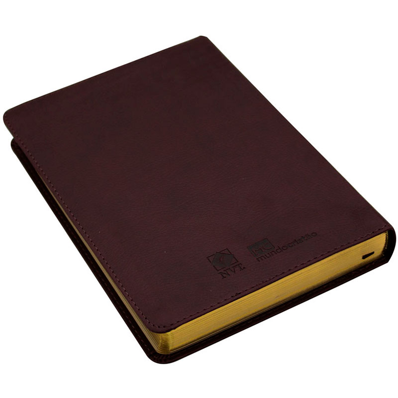 Bíblia Sagrada | NVT | Luxo | Capa Couro Sintético Marrom