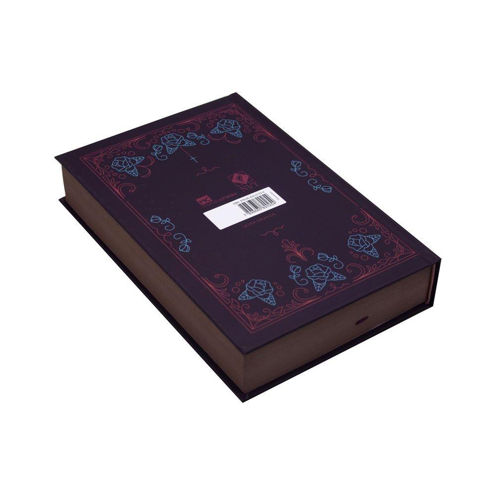 Bíblia Sagrada Ornamentos   NVT   Capa Dura   Letra Grande   Vinho