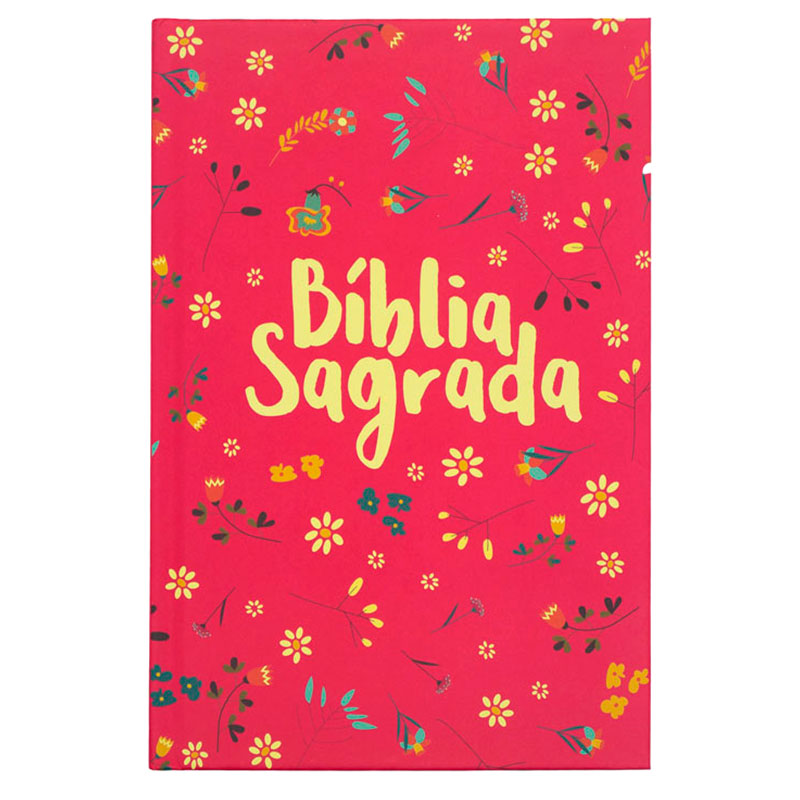 Bíblia Sagrada Pequeno Jardim   NVT   Capa Dura   Rosa