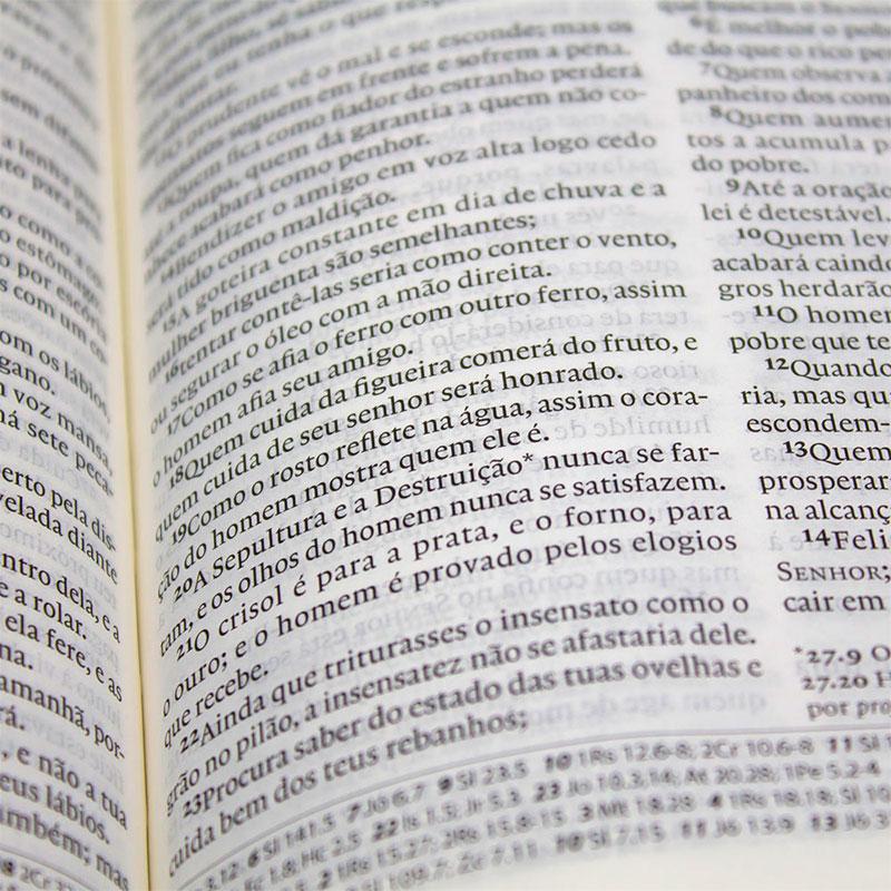 Bíblia Sagrada   Século XXI   Luxo   Capa Couro Sintético Preta