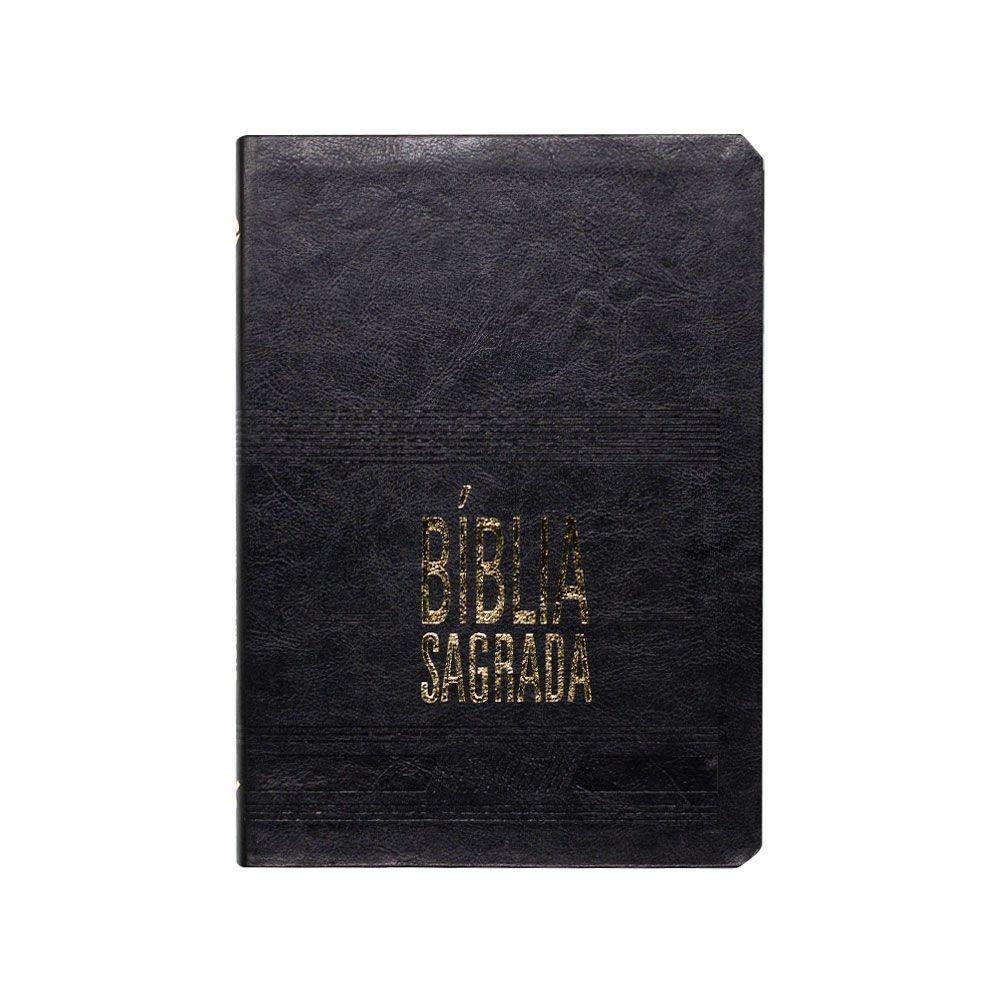 Bíblia Sagrada Slim   NAA   Letra Grande   Couro Sintético   Preta