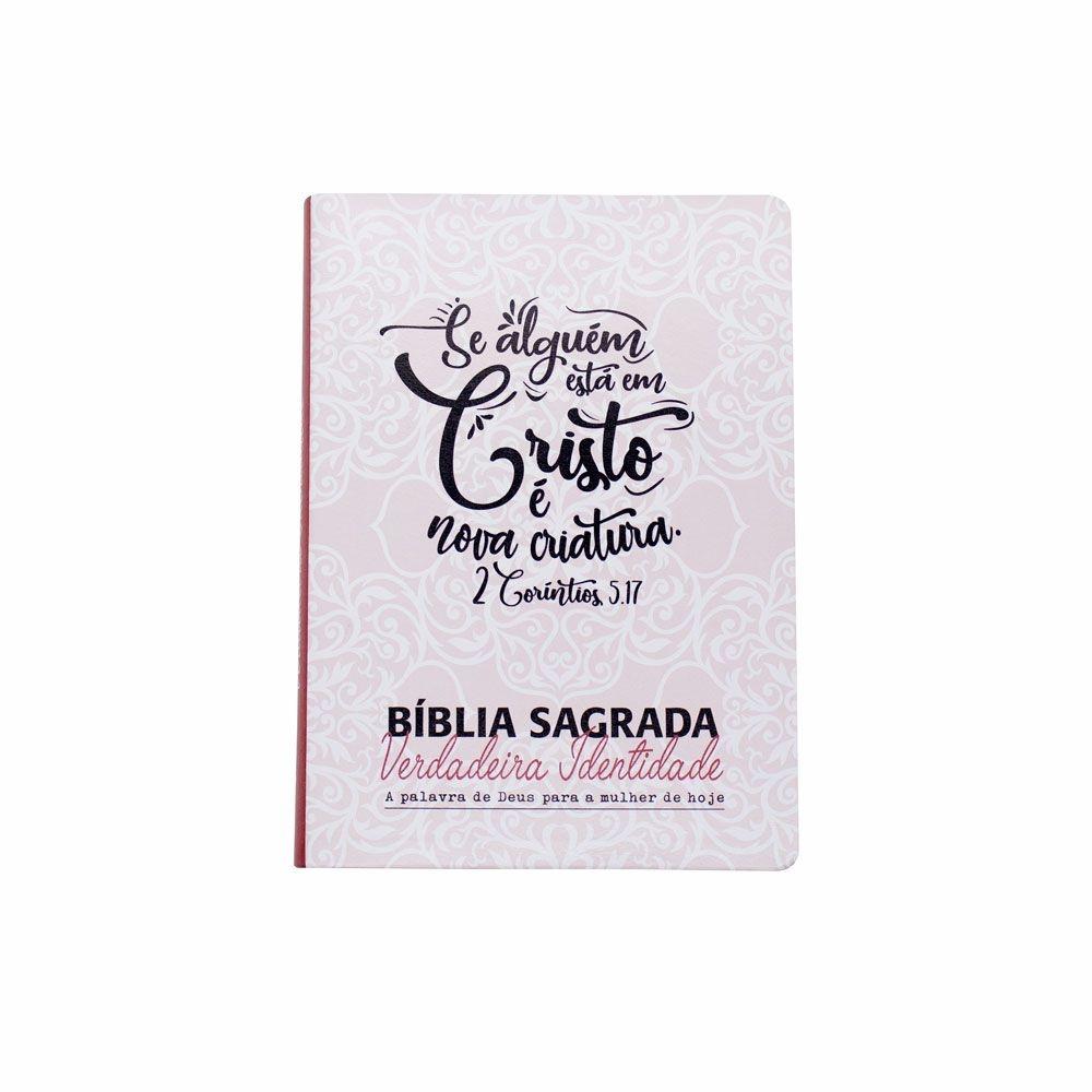 Bíblia Sagrada Verdadeira Identidade | NAA | Luxo | Rosa Claro