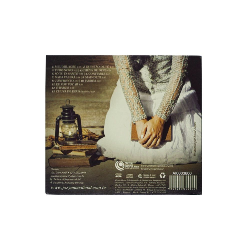 CD: Meu Milagre - Jozyanne