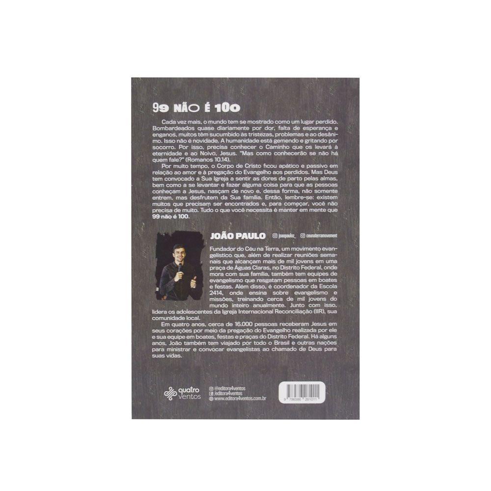 Livro: 99 Não É 100   João Paulo
