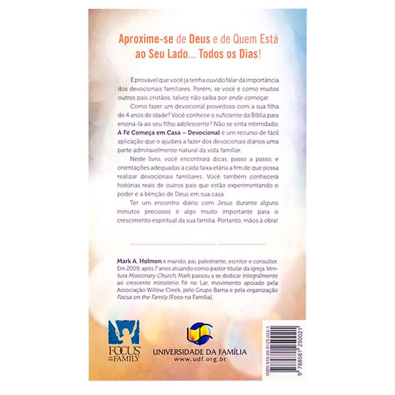 Livro: A Fé Começa Em Casa - Devocional | Série Fé No Lar | Mark Holmen