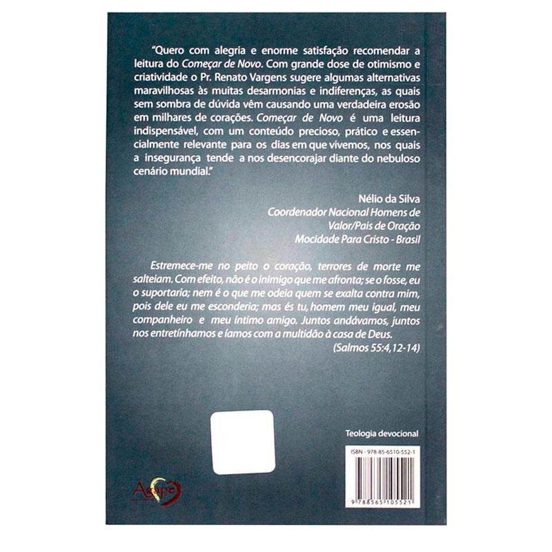 Livro: Começar De Novo | Renato Vargens