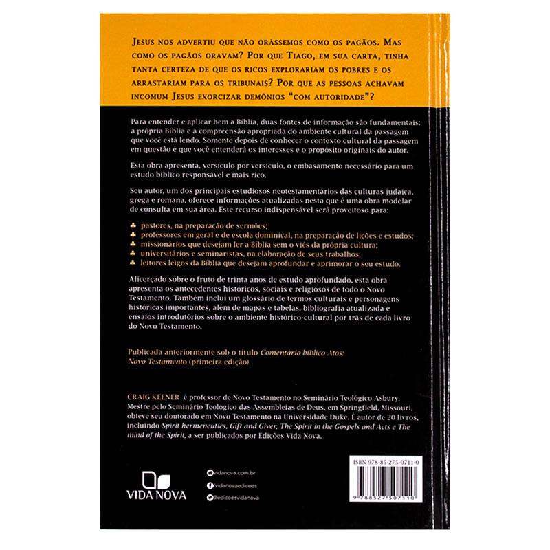 Livro: Comentário Histórico Cultural NT   Craig S. Keener