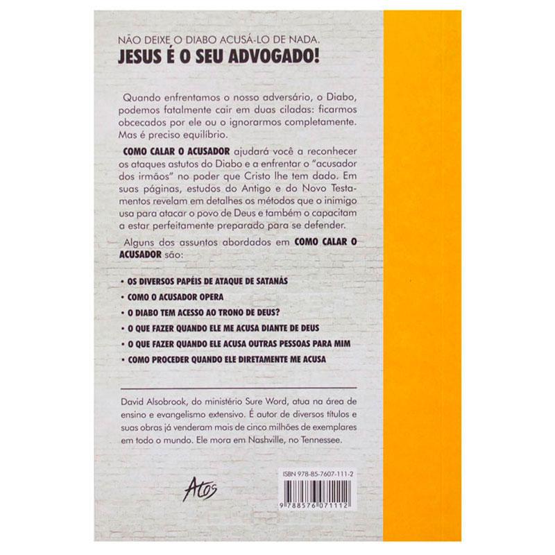 Livro: Como Calar O Acusador | David Alsobrook