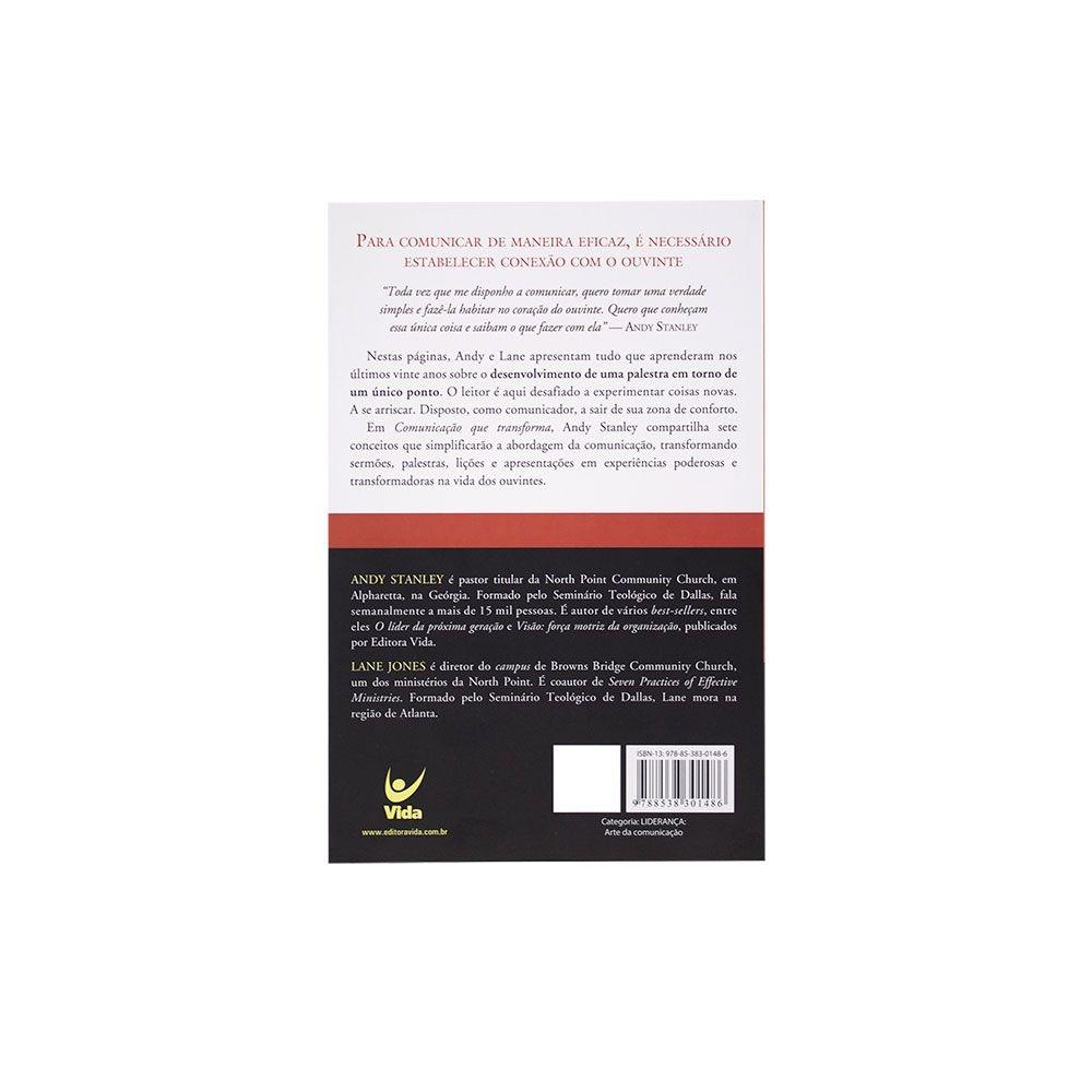 Livro: Comunicação Que Transforma   Andy Stanley & Lane Jones