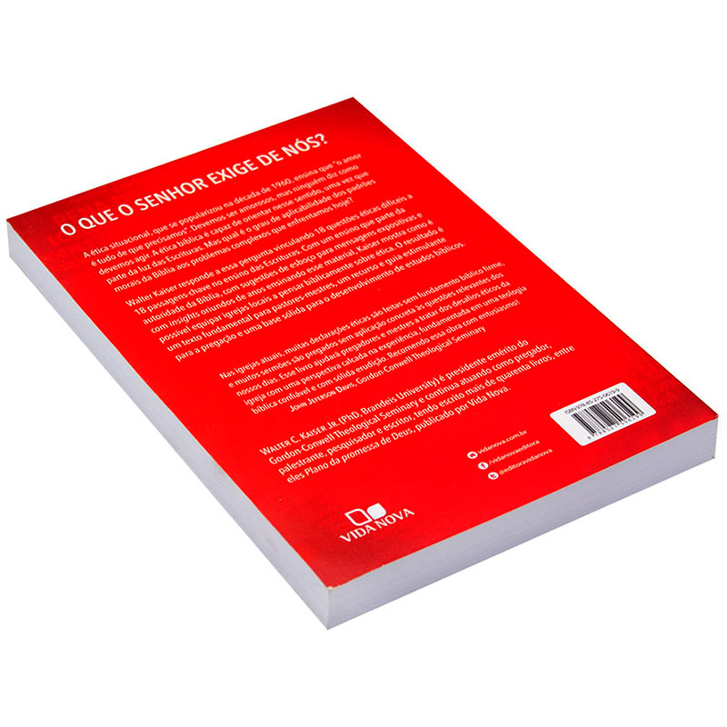 Livro: Cristão E As Questões Éticas da Atualidade | Walter C. Kaiser Jr