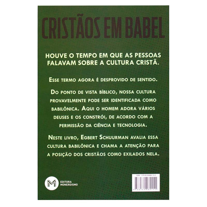 Livro: Cristãos Em Babel | Egbert Schuurman
