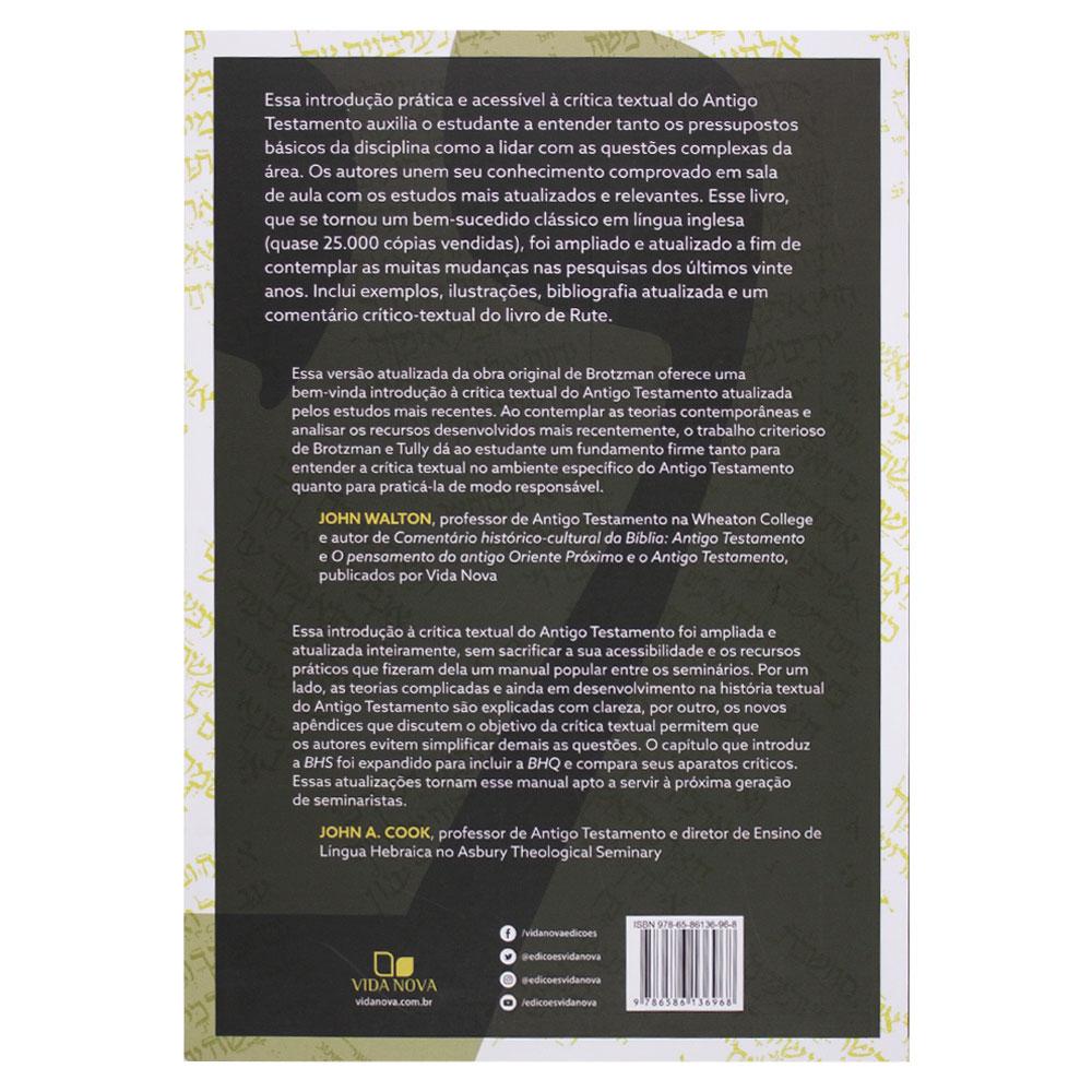 Livro: Crítica Textual Do Antigo Testamento   Ellis R. Brotzman & Eric J. Tully