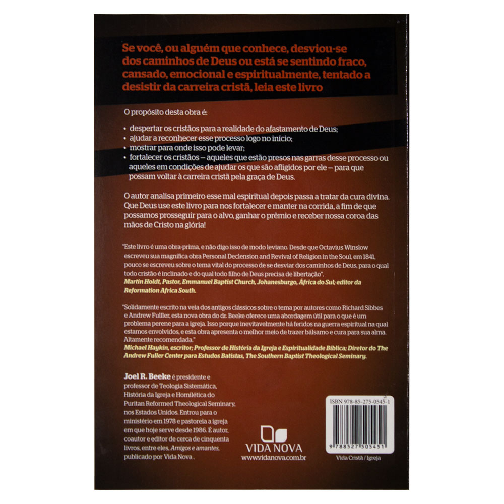 Livro: De Volta para Os Braços do Pai   Joel R. Beeke