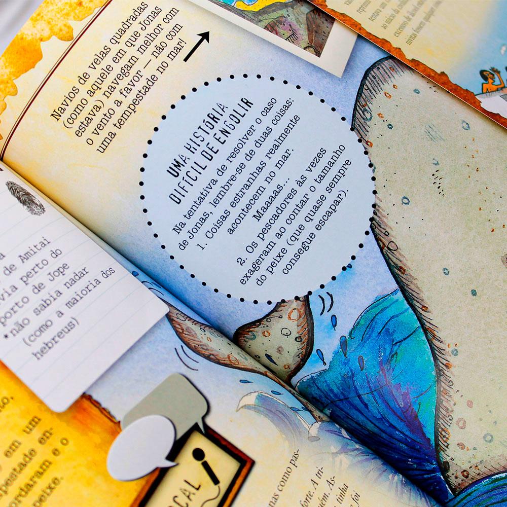 Livro: Dossiê Dos Personagens Bíblicos | Infantil | Capa Brochura Amarela