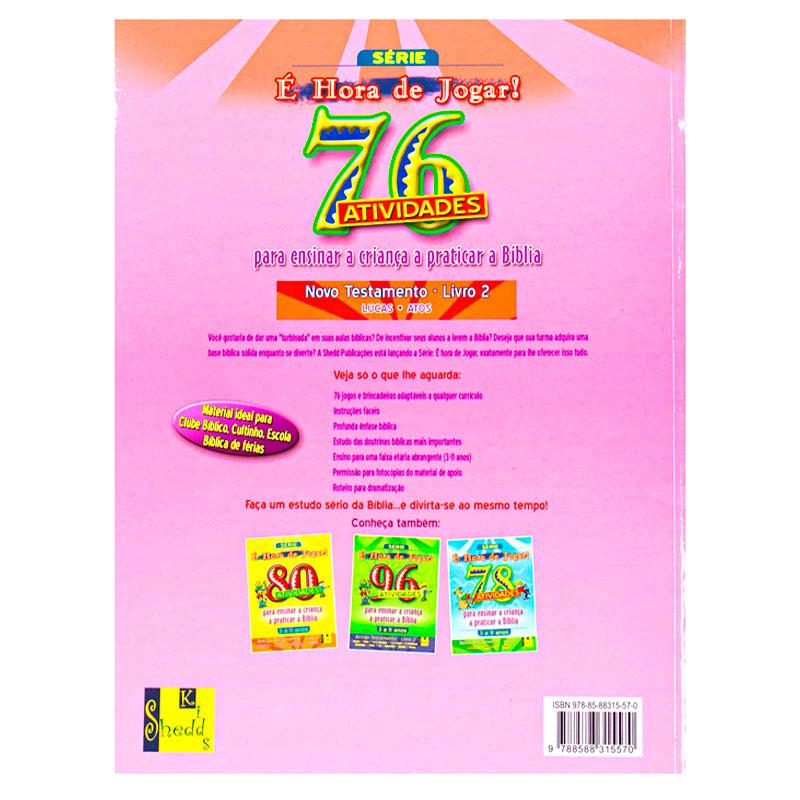 Livro: É Hora De Jogar - N.T. 2 Lucas E Atos - 76 Atividades | TNT Ministries