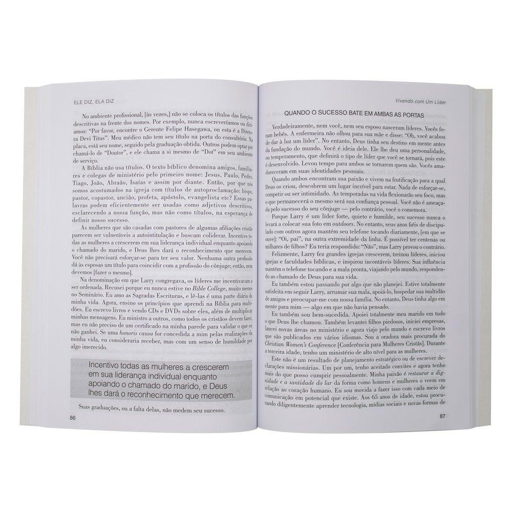 Livro: Ela Diz, Ele Diz | Larry Titus E Devi Titus