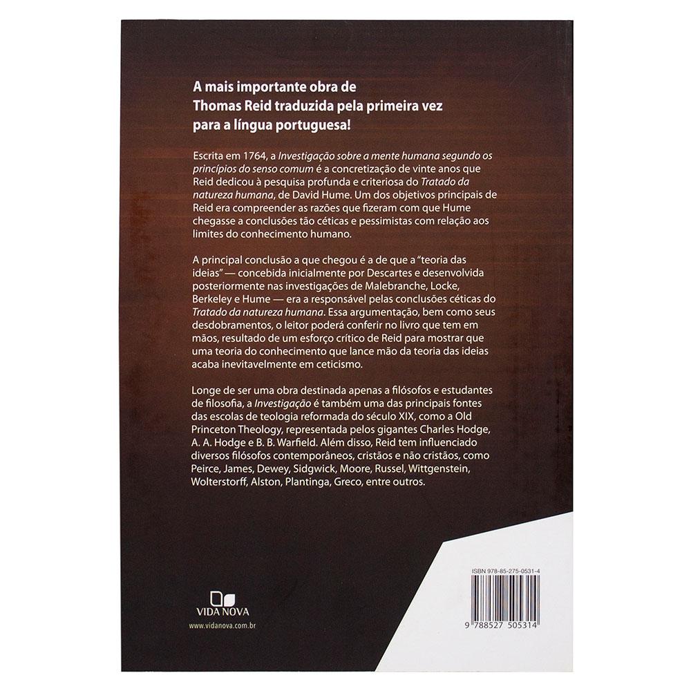 Livro: Investigação Sobre a Mente Humana Segundo Os Princípios do Senso Comum  | Thomas Reid