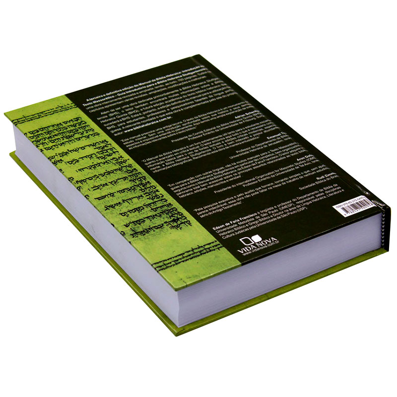 Livro: Manual Da Bíblia Hebraica | Edson De Faria Francisco