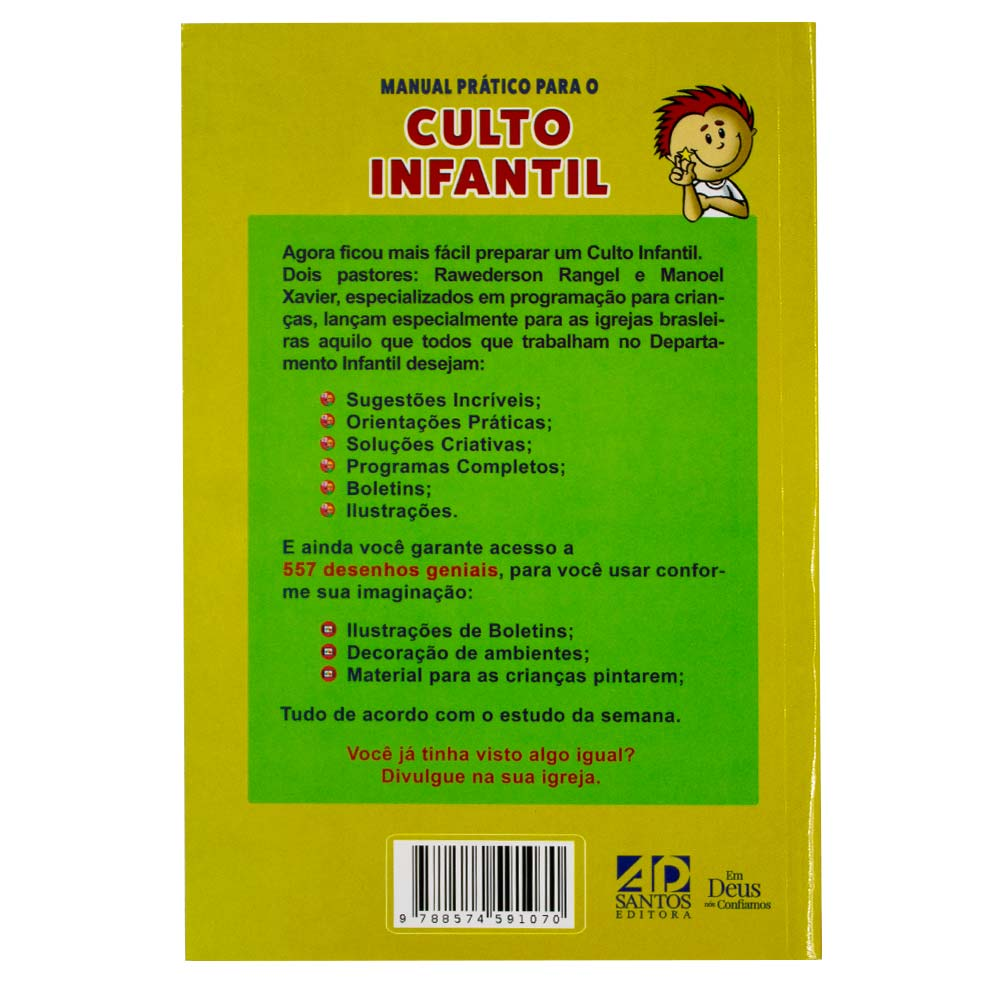 Livro: Manual Prático para o Culto Infantil | Volume 1 | Rawderson Range