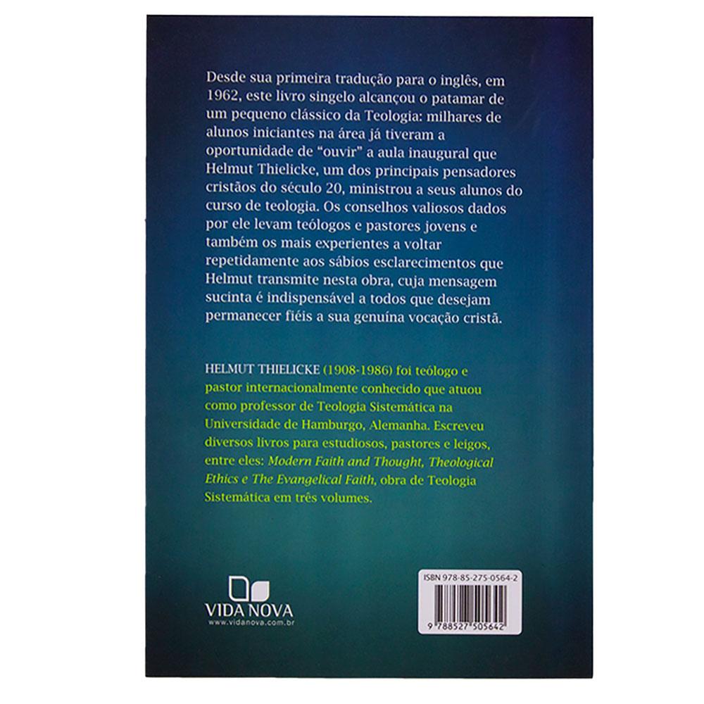 Livro: Recomendações Aos Jovens Teólogos E Pastores   Helmut Thielicke