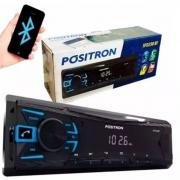Som Automotivo Pósitron MP3 Player FM - Bluetooth USB SP2230BT - Positron