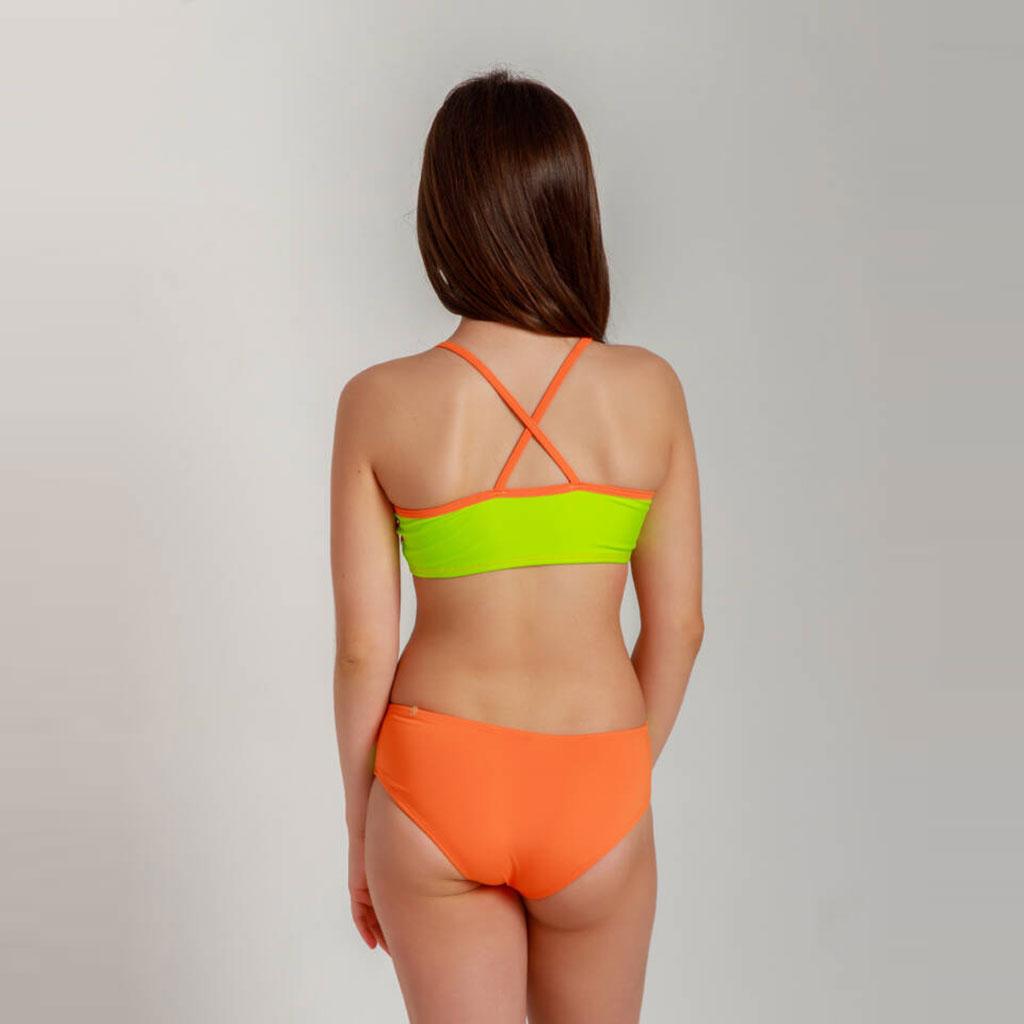 Biquíni Recortes Neon laranja