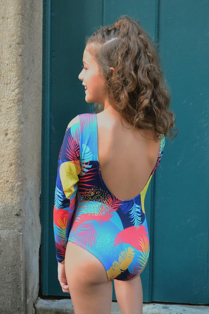 Body floral azul style