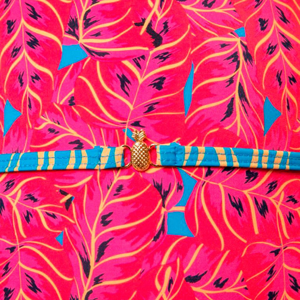 Maiô Isabela folhagem pink