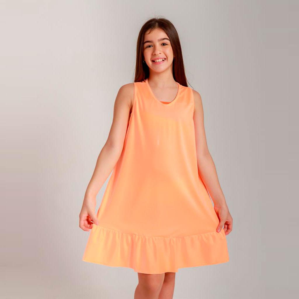 Vestido Julinha laranja Neon