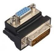 ADAPTADOR VGA FEMEA X DVI 24 + 5 90 GRAUS EXBOM