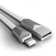 CABO DE DADOS USB 2.4A PARA IPHONE 1 METRO C3TECH CB-L170WH
