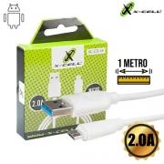 CABO DE DADOS USB PARA MICRO USB 2.0A X-CELL XC-CD-44