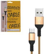 CABO DE DADOS USB PARA MICRO USB 2.4A MOXOM CC-35
