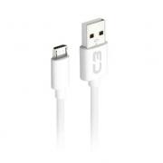 CABO DE DADOS USB PARA MICRO USB 2.A V8 01M C3PLUS CB-M10