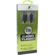 CABO DE DADOS USB PARA MICRO USB 3.0A 2 METROS X-CELL XC-CD-15