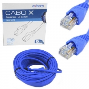 CABO DE REDE 15 METROS AZUL EXBOM CBX-N5C150