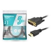 CABO DVI 24+1 PARA HDMI MACHO 2 METROS DEX/EMPIRE PRETO 018-8702