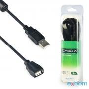 CABO EXTENSOR USB 2.0 AM/AF 05 METROS COM FILTRO EXBOM / DEX