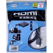 CABO HDMI 2.0 4K 2 METROS EXBOM/ ALLTECH 1168