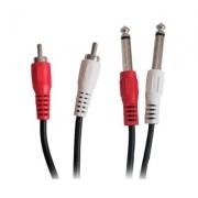 CABO P10 MACHO X 2 RCA MACHO 1,5 METROS X-CELL XC-2P10X2RCA