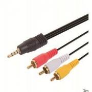 CABO P2 X 3 RCA GOLD 1,8 METROS BR CABO 05321 X-CELL XC-P2-3RCA