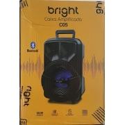 CAIXA DE SOM 2.0 BLUETOOTH 5.0 100W RMS BRIGHT C05 PRETA
