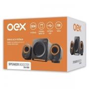 CAIXA DE SOM 2.1 30W USB/MICRO SD/FM OEX SK-500