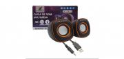CAIXA DE SOM USB 5W RMS X-CELL XC-CM-12 PRETA